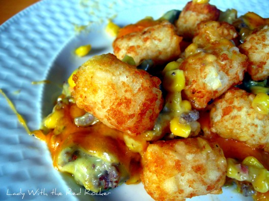 Yummy-Cheesy-Tater-Tot Casserole! | Lady with the Red Rocker