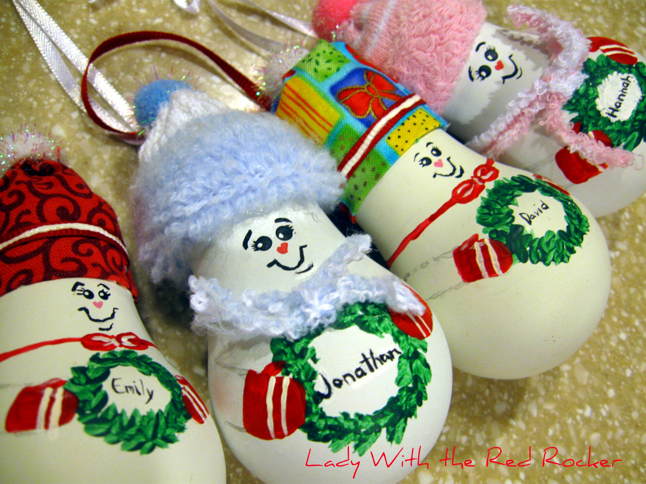 Новогодние игрушки снеговик своими руками фото