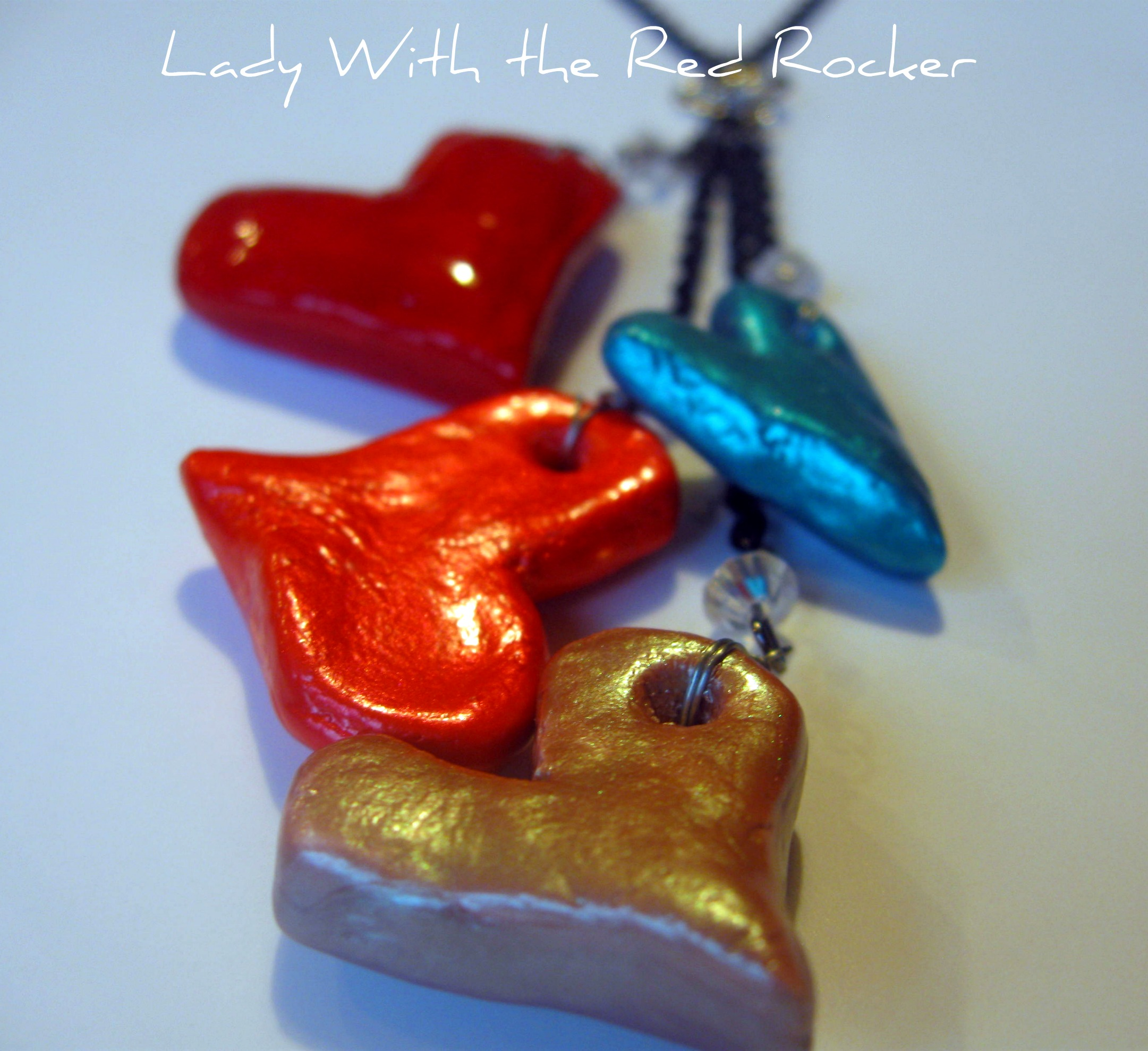 Salt dough heart necklace lady with the red rocker i aloadofball Choice Image